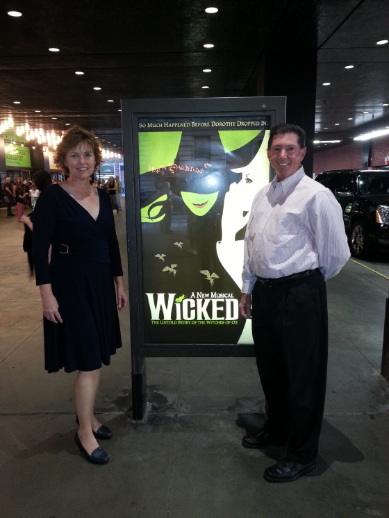 My parents at Wicked!