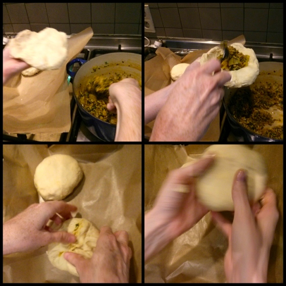 The pirashki making process