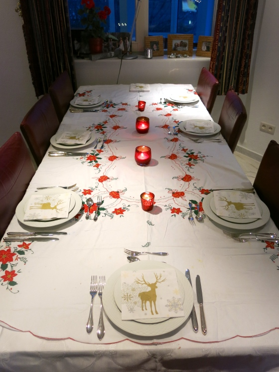 The Christmas table!