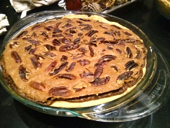 Pecan pie fresh out of the oven!
