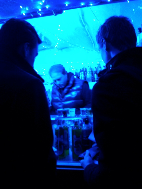 The boys buying shots of jenever
