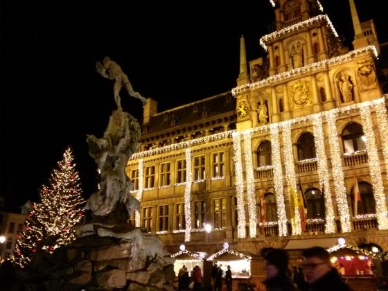 Antwerp Christmas Market in the Grote Markt