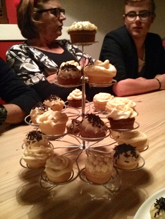 Barbara and Menno's cupcake tower