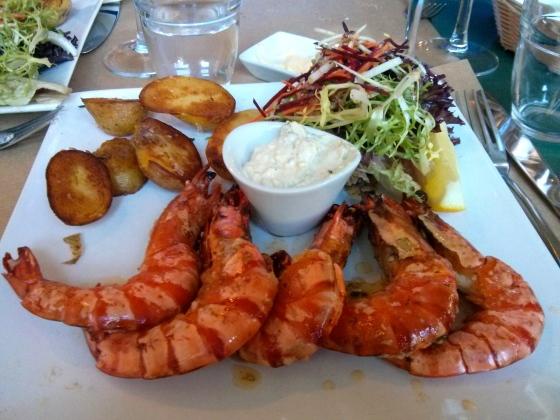 My prawns - yum!