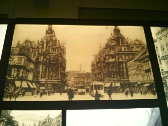 Old photo of the Keyserlei in Antwerp