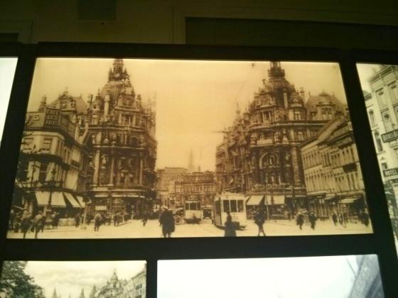 Old photo of the Keyserlei in Antwerp