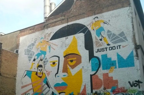 A Nike mural we passed