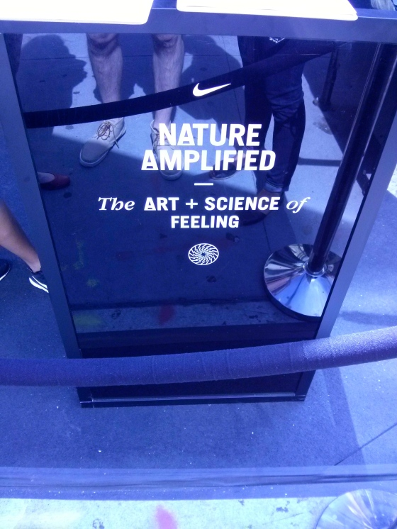 Special Nike Exhibit for NY Fashion Week - debuting Nike's new running shoe