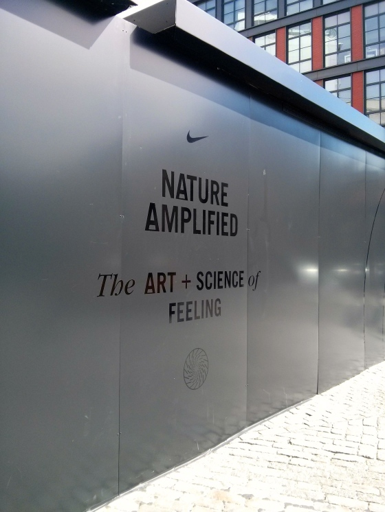 The Nike exhibit - we walked barefoot on different surface while our brainwaves were being read to see how we responded to touching grass, rocks, etc!