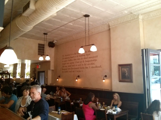Inside Markt, the Belgian restaurant in Chelsea