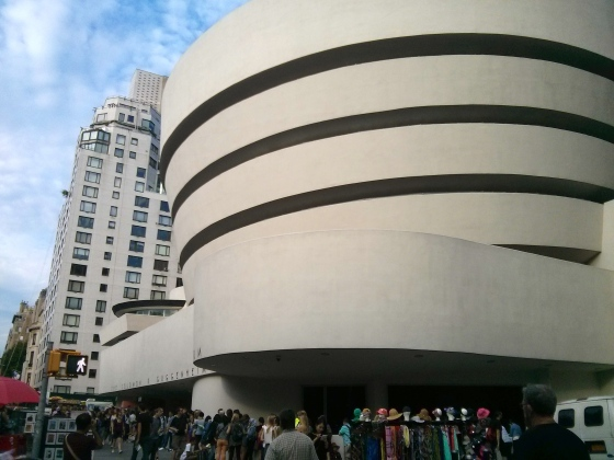 Waiting in line at the Guggenheim