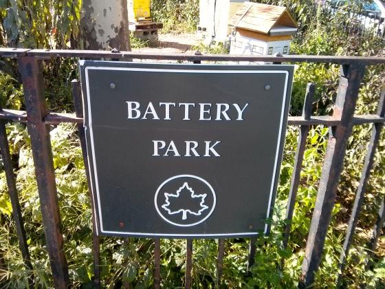 Walking around Battery Park