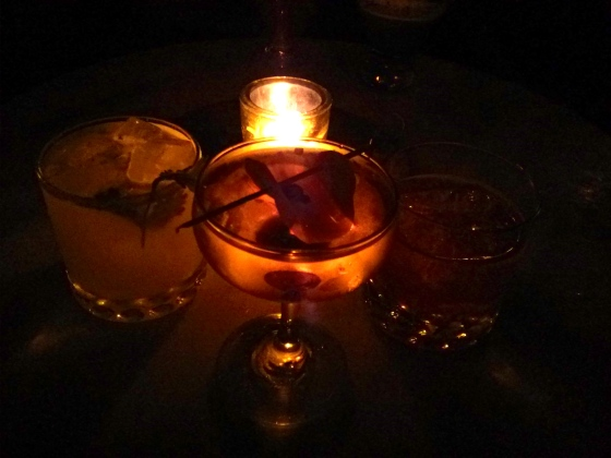 Birthday drink at Apotheke, a speakeasy in Chinatown! All of the