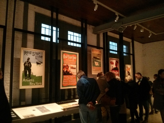 First exhibit room with the history of the Red Star Line owners