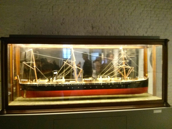 Model of one of the ships