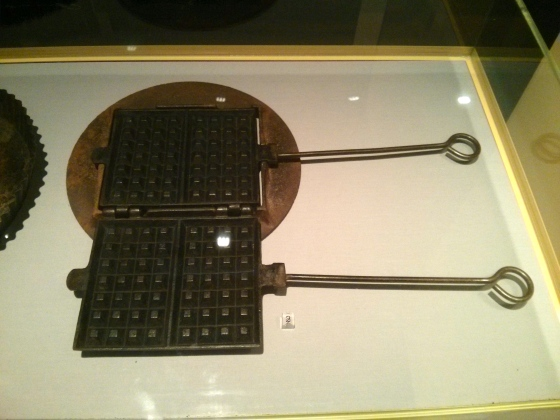 An old waffle iron