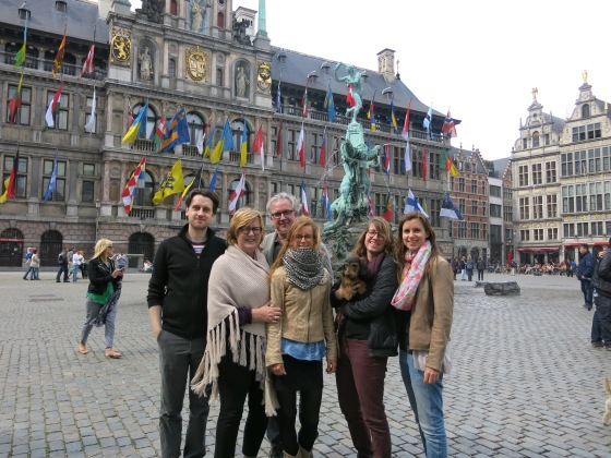 And of course a Brörmann family photo in the Grote Markt!