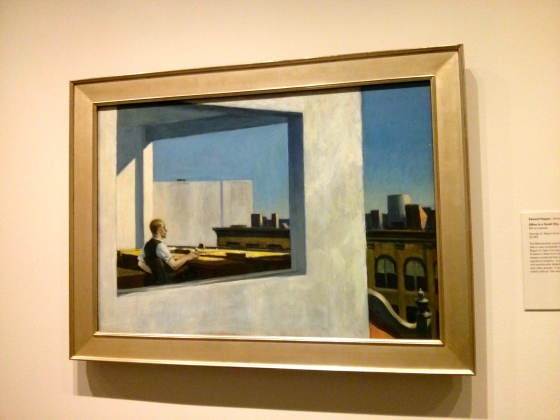 Office in a Small City, Edward Hopper, 1953