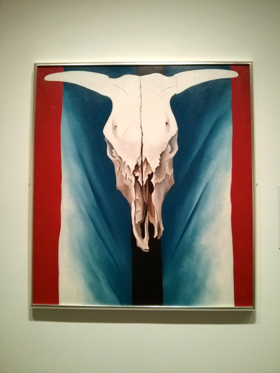 Cow's Skull: Red, White, and Blue, Georgia O'Keeffe, 1931