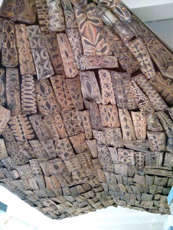 Kwoma ceiling in the Gallery for Melanesian Art
