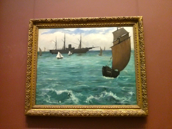 "The ""Kearsarge"" at Boulogne, Édouard Manet, 1864"