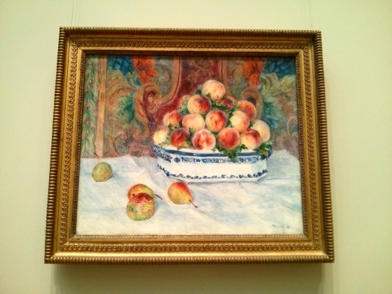 Still Life with Peaches, Auguste Renoir, 1881