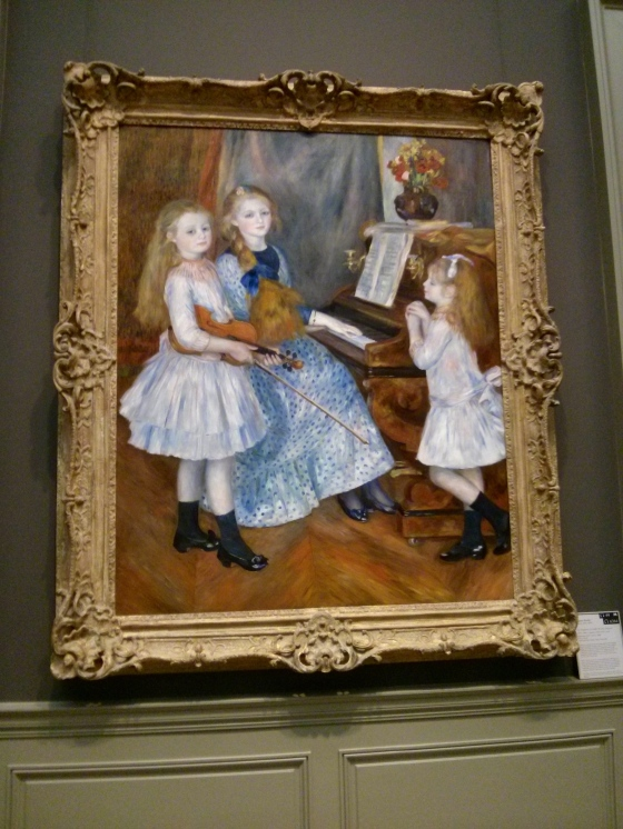 The Daughters of Catulle Mendès, Huguette, Claudine, and Helyonne, Auguste Renoir, 1888