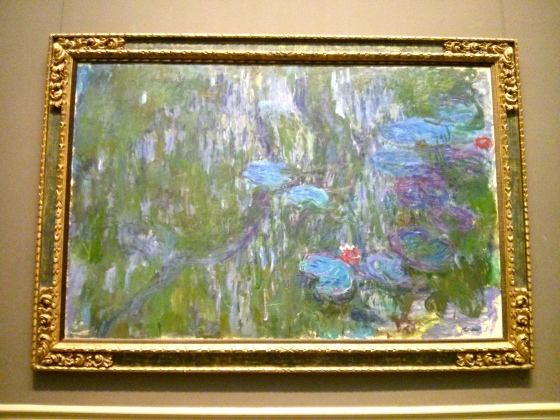 Water Lilies, Reflections of Weeping Willows, Claude Monet, 1918