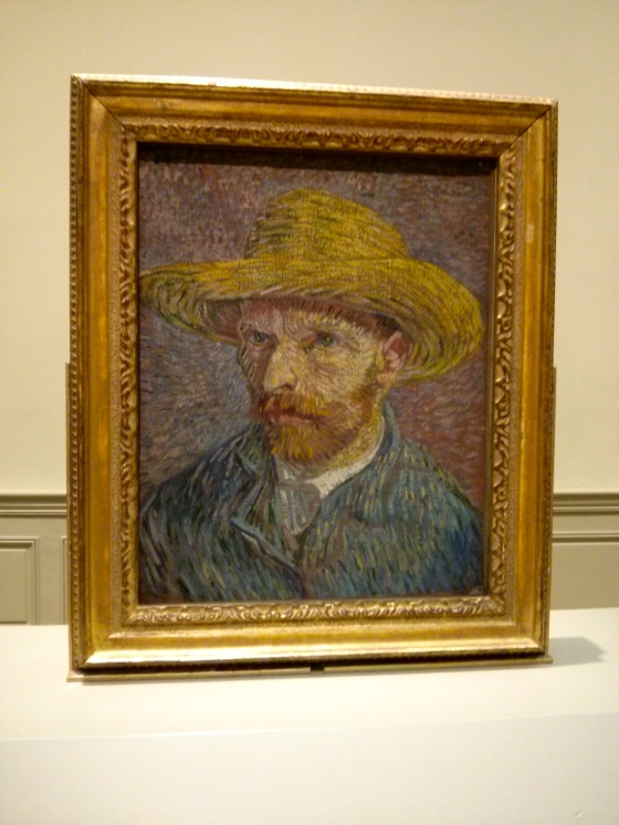 Self-Portrait with a Straw Hat, Vincent van Gogh, 1887