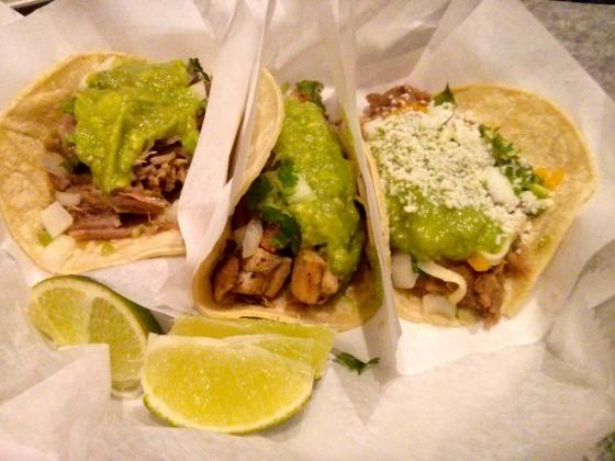 Closeup of my tacos