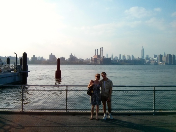 Photo with our Brooklyn tourguide Matt