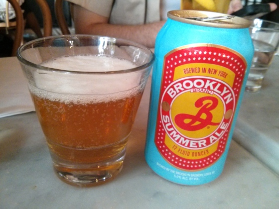 Brooklyn Summer Ale for me only seemed fitting