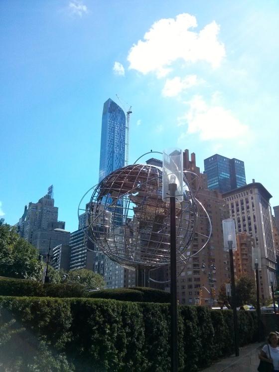 Globe in Columbus Circle