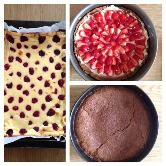 Sofie the baker! Raspberry cheesecake brownies, French strawberry pie, and chocolate pie!