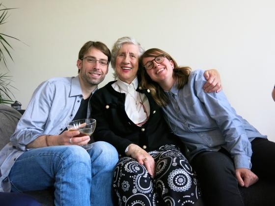 Ethan, Oma, and Nikki
