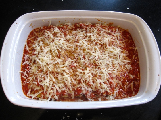 Freshly grated parmesan on top