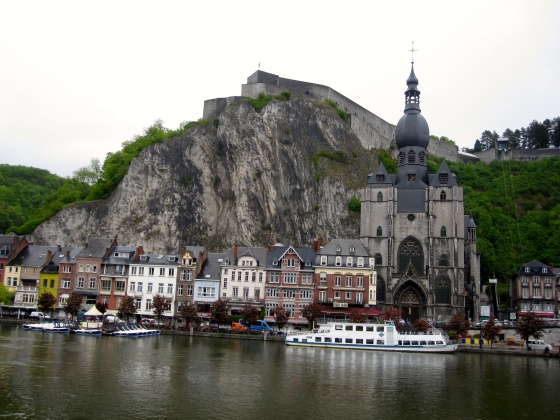 View of Dinant from the other side of the Meuse River