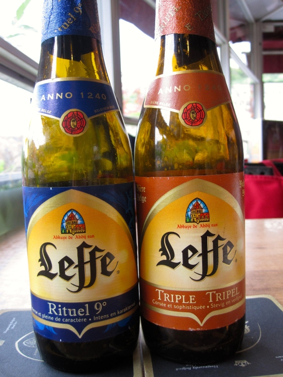 My dad and I chose the 2 of the Leffes we had never tried - the Rituel 9 and the Tripel