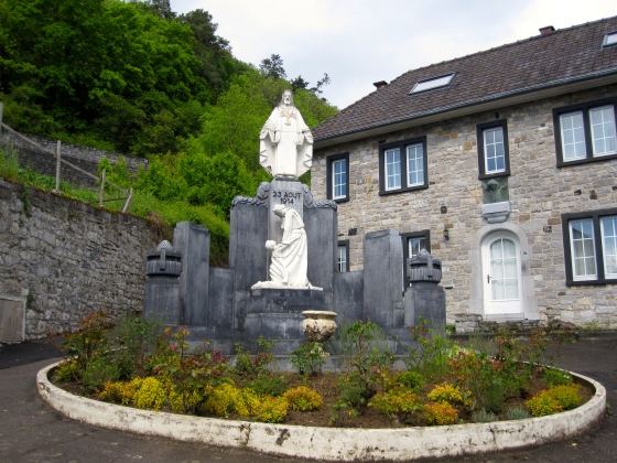 Momument to the monks that died when the Germans invaded Dinant in 1914