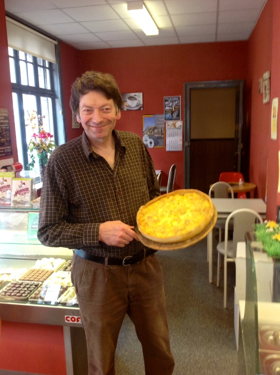 Our happy baker with the flamiche