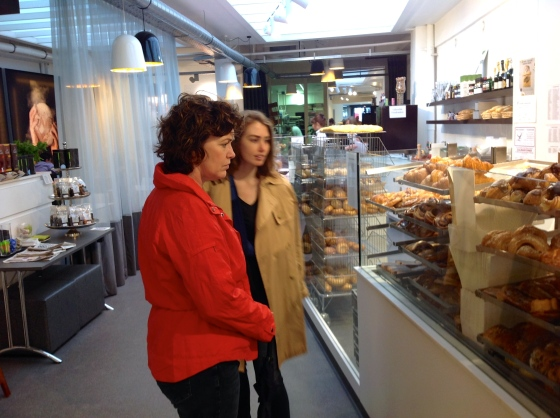 Having a look at all of the pastries