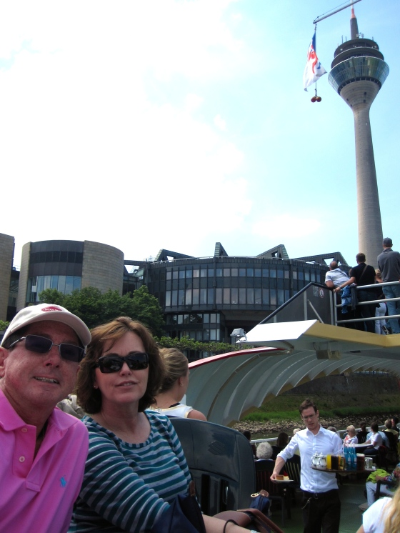 Mom and Dad with the Rheinturm