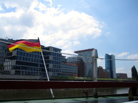 More office buildings along the Rhine River