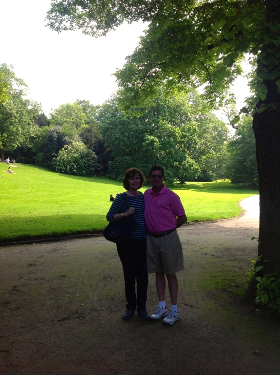 Mom and Dad in the Hofgarten