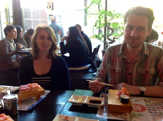 Eating sushi in the Japanese quarter