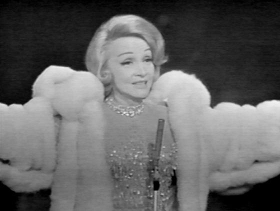Marlene Dietrich in the coat