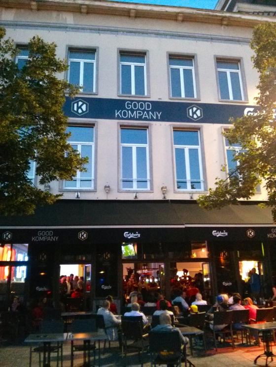 Good Kompany - the captain of the Belgian team's café