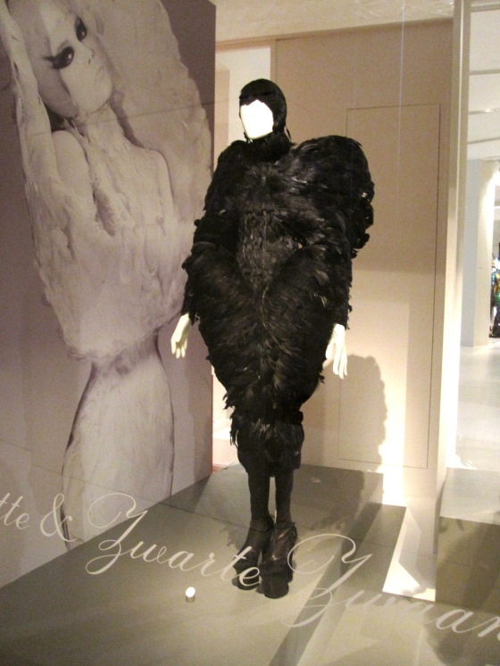 Alexander McQueen, Autumn-Winter 2009-2010; Dress in dyed goose feathers