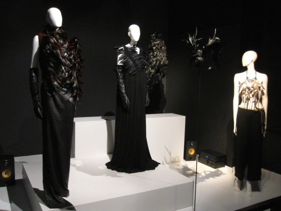 A few silhouettes from Ann Demeulemeester that highlight her use of feathers in different ways