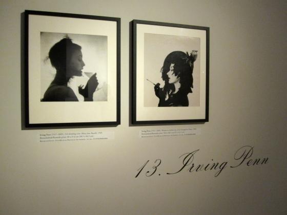 Left: Irving Penn, Girl drinking wine, 1949 Right: Irving Penn, Woman in chicken hat, 1949